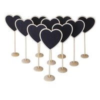 Wholesale 12X Wooden Standing Blackboard Wedding Favor Party Table Decor Message Number