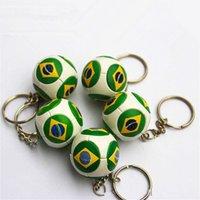 alloy badge materials - Miniverse Brazil Rio National Team Flag Brasi Badge Keychain PU Material cm Diemeter Yellow