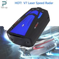 Wholesale Auto Degrees Band V7 Car Anti Radar Detector LED Display Vehicle Speed Voice Alert Warning Laser Detector Blue Red