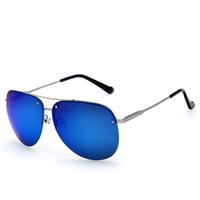 aviator goggles for sale - Hot sales Fashion Polarized Aviator Sunglasses for Man Metal Frame Reflective Sunglasses for Shopping Driving Traveling Blue Lens Sunglasses