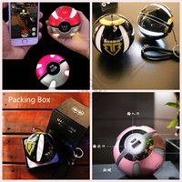 Wholesale Poke Power Bank mAh Poke Ball Shape USB LED External Battery Charger Phone Charger OOA404