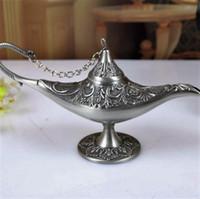 aladdin antiques - Aladdin Magic Lamp Antique Arts Craft Zinc Alloy Genie Lamp European Style Fancy Present Metal Decoration