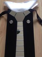 Wholesale Hex Tie hand made necktie Set Silver Mirror Buy Get Free