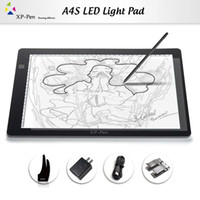 Wholesale XP Pen A4 LED Art craft Tracing Light Table USB DC Light Box Drawing Pad Copy Board X ray Pad with Paper Clips and Anti fouling Glove
