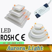 Wholesale LED Panel Light Round Suqare LED Recessed Ceiling Lights Models w w w W AC85 V LED Ceiling Downlight Factory Price