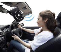 Wholesale CSR4 Bluetooth Car Kit Speaker Vehicle Speakerphone Shade Plate Bluetooth Car Supports Simultaneous Use of Two Phones