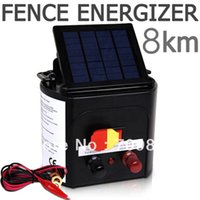 Wholesale fence lamp Horse Sheep Cattle Cow Goat Dog Solar Power Electric Fence Energizer with Adjustabl Solar Panel