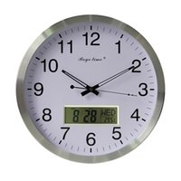 Wholesale Peacock wall clock sound off LCD digital office living room use modern clock hot sale high quality product for