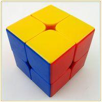 Precio de Dayan juguete-Al por mayor-Dayan 5.0 Zhanchi 50mm 2 capas blancas velocidad cubo mágico juguetes Kubik aprendizaje kub educación cubo mágico juego personalizado