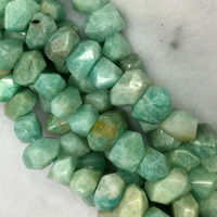 amazonite faceted beads - Natural Genuine Green Russia Amazonite Hand Cut Faceted Nugget Free Form Loose Beads quot