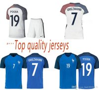 Cheap The best French soccer jersey 2016 French national team football shirts 16-17 home and away kit Big preferential