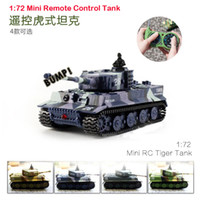 Wholesale Creative Mini Simulation Electronic Remote Control Tiger Tank for Children Birthday Chirstmas Holiday Gift