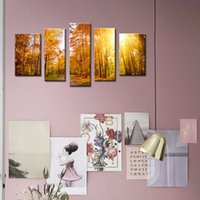 beautiful forest pictures - LK5104 Panel Wall Art For Home Decoration Beautiful Fall Scene Autumnal Park Autumn Trees And Leaves In Sun Rays Landscape Forest Pri