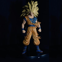 battle damaged goku - NEW cm dragon ball Super saiyan three Battle damage Edition Son Goku Kakarotto action figure toys Christmas doll toy