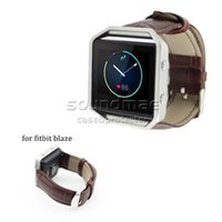 Cheap Fitbit Blaze Smart Fitness Watch Strap Band Crocodile Faux Leather Wrist Strap Watch Band Bracelet with Metal Clasp with retailpackage