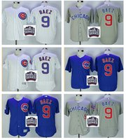 anti wrinkle patch - 2016 World Series patch Chicago Cubs Javier Baez Jersey White Blue Alternate Gray Road Premier Stitched Javier Baez Cubs Baseball Jerseys