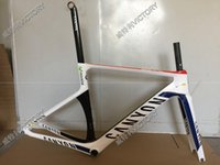 Wholesale 2016 Newest White Movistar CF SLX Road Bicycle Frame Carbon Frame Size XXS XS S M L available colors for choice