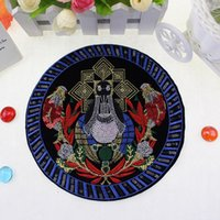bead pin patterns - 2016 new beads embroidered cloth clothes clothing accessories Aberdeen chapter patch patch pattern round chapter pin factory