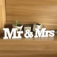 Wholesale Chic Mr Mrs Wedding Letters White Wooden Mr and Mrs Table Sign Decoration NEW
