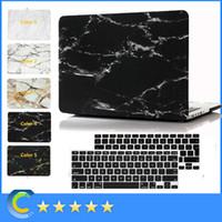 al por mayor retina 15-Nuevo caso de mármol protector de caucho duro con cubierta de teclado negro para Macbook Air Pro Retina 11 '' 12 '' 13 '' 15inch