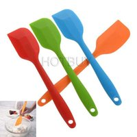 Wholesale Kitchen Silicone Cream Butter Cake Spatula Mixing Batter Scraper Brush Butter Mixer Cake Brushes Baking Tool Kitchenware cm