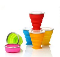 Wholesale Outdoor portable folding cup multi function creative cup the silicone portable folding The silicone folding cups