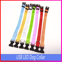 band extra - New Rechargeable USB LED Flashing Light Band Belt Safety Pet Dog Collar By DHl