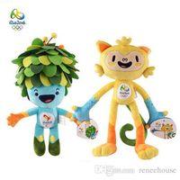 Wholesale 2016 Brazil Rio Olympic Soft Plush Stuffed Animal Toy Souvenirs Vinicius Tom cm Soft Stuffed Plush