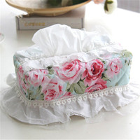 Wholesale MK Korean garden princess cotton lace removable LMS tissue box cover beautiful living Room dustproof home textile gift for car