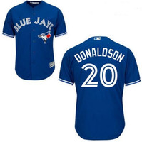 bass shorts - Toronto Blue Jays man Josh Donaldson Majestic real bass player cool jersey Baseball Jerseys