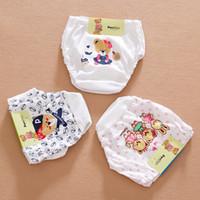 Wholesale New Boxers Baby Bread Pants Comfortable Cotton Underwear Cartoon Children Briefs Cute Underwear for Kids Girls