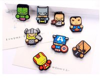 Wholesale 8Pcs Creative lovely Silicone Cartoon Cute Heroes Fridge Refrigerator Magnet Set Home Decoration Refrigerator Magnetic Stickers