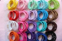 baby girl ponytail holder - Candy Color Baby Headband Solid Hair Ropes Ponytail Holders Rubber Elastic Hair Band Hair Accessories for Girls