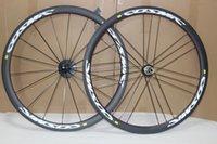 Wholesale carbon wheels clincher mm c white decal carbon wheels k clincher h spokes wheels with ceramic hubs