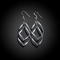 banana plant leaves - European and American fashion jewelry fashion silver plating double banana shaped earrings simple leaves silver earrings Ms