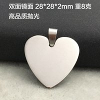 Wholesale New hot sale Heart Round shape Engravable Stainless Steel Dog Tag Military Shape Men Fashion Pendants for boys without chain