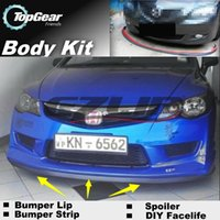 Wholesale For Acura CSX Bumper Lip Lips Front Skirt Deflector Spoiler For Car Tuning The Stig Recommend Body Kit Strip