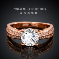 Solitaire Ring adorn selling fashion - Zircon ring Europe and the United States rose gold bracelet manufacturers selling fashion set auger adorn article