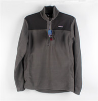Wholesale Patagonia outside sport Men stand collar ultra light thermal patchwork fleece clothing