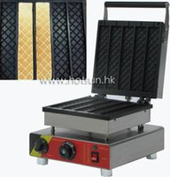 belgian waffle irons - 5pcs Commercial Use Non stick v v Electric Chocolate Belgian Waffle Stick Machine Baker Maker Iron