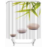 bamboo fabric store - Customs W x H Inch Shower Curtain Store and Bamboo Waterproof Polyester Fabric Shower Curtain