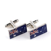 australian flag cufflinks - National Flag Australian flag Cufflink Cuff Link sleeve nail for women men shirts dress suits alloy Cufflinks Christmas gift