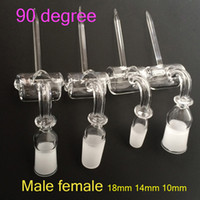 Wholesale Newest Quartz Trough And Cap Quartz Banger Nail Carb Cap Quartz Trough Nail Female Male mm mm mm Degrees Quartz Bangers Nails