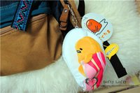 badge hanger - San Gude ta the lazy egg Plush toy Retrackable card ID holder Reel Badge Key Name Tag hanger ma RI gifts