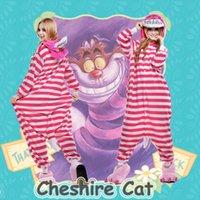 Wholesale Hot Cartoon Cheshire Cat Kigurumi Pajamas Halloween Cosplay Costume Adult Onesie Sleepwear Size S M L XL