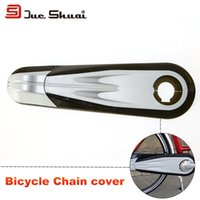 bicycle chain guide tensioner - Bike Full Chain Cover Cleaner Protector Black Sprocket Bicycle Guide Cover Part OEM Brand Ring Belt Box Cycling Bike Tensioner