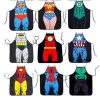 Wholesale 2016 newest Apron superman Batman Top apron women Lovely Character Series Kitchen Apron Funny Personality Cooking Apron