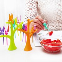 Wholesale Creative Home Kitchen Tableware Dinnerware Sets Birdie Fruit Fork Birds On The Tree Birds Fruit Forks Kitchen