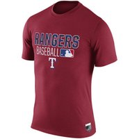 army ranger shirt - New Men MLB Texas Rangers Baseball T shirts Fanatics Apparel Platinum Collection Tri Blend Banner Wave Authentic Collection Short sleeves