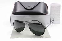 Wholesale New Brand Designer Mirror Fashion Sunglasses For Men and Women Pilot mm UV400 Retro Vintage Sun glasses With box and cases